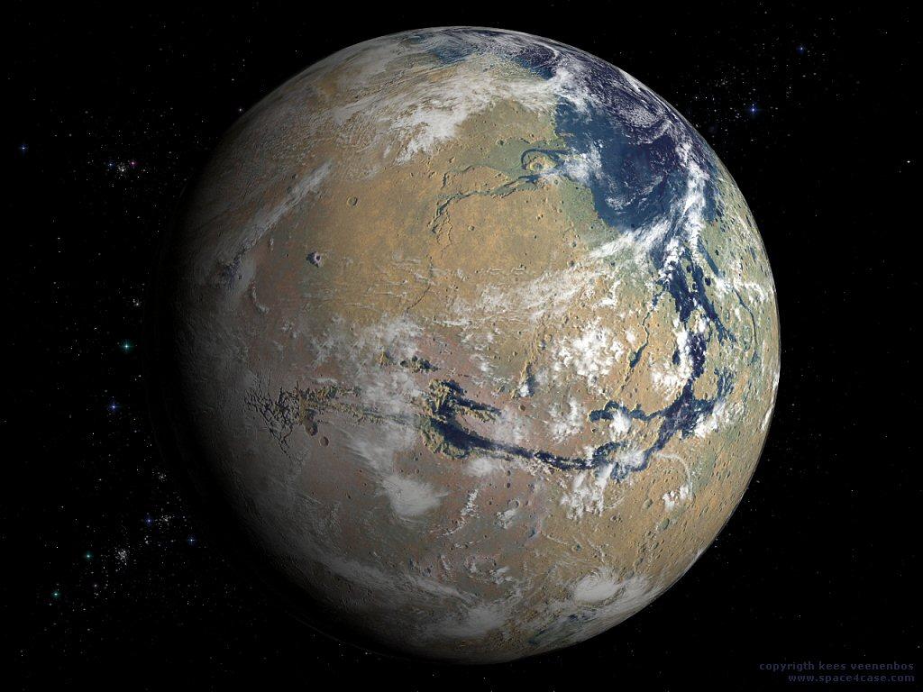 Марс. Умови для життя після удару комети